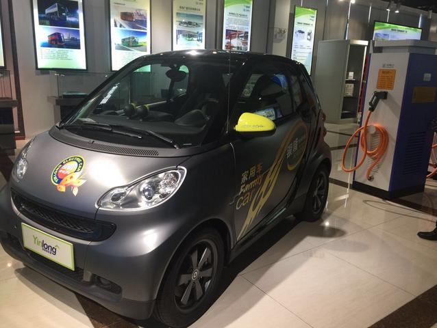 银隆新能源生产的纯电动汽车.-估值19.5亿美元 珠海银隆新能源登上高清图片